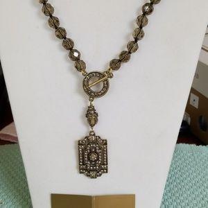 Heidi Daus crystal necklace and earrings set